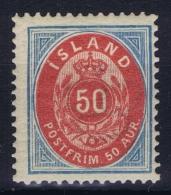 Iceland: 1892 Mi Nr 16 A Perfo 14 : 13,50 MNH/** - Ongebruikt