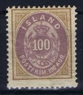 Iceland: 1892 Mi Nr 17 A Perfo 14 : 13,50 MH/* - Neufs