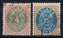 Iceland: 1900 Mi Nr 20 + 21 Used - Gebraucht