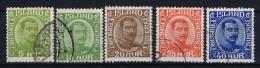 Iceland: 1921 Mi Nr 99 - 103 Used - 1918-1944 Unabhängige Verwaltung