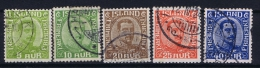 Iceland: 1921 Mi Nr 99 - 103 Used - Oblitérés