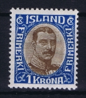 Iceland: 1920 Mi Nr 96  MH/*  Fa 142  Has A Very Light Fold - 1918-1944 Administration Autonome