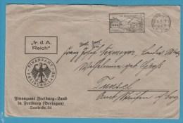 BRIEFUMSCHLAG FINANZAMT FREIBURG Im Br. 6.9.29 - Vieux Papiers