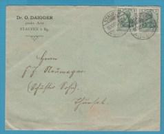 BRIEFUMSCHLAG Dr O.DAIGGER ARZT STAUFEN I. Bg KROZINGEN 15.10.07 - Non Classés