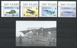 St. Helena 2009.Naval Aviation Set & Souvenir Sheet MNH** - Saint Helena Island