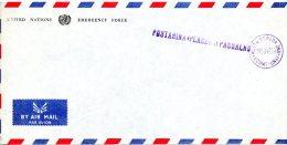 YOUGOSLAVIE. Enveloppe. United Nations Emergency Force In Egypt 1956-59. - 1945-1992 République Fédérative Populaire De Yougoslavie