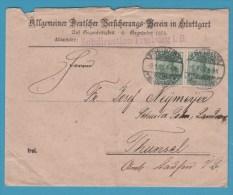 BRIEFUMSCHLAG VERSICHERUNG-VEREIN STUTTGART 3.1.08 - Vieux Papiers