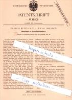 Original Patent - T. Remus In Plauen Bei Dresden , 1881 , Steichholz - Behältern , Zündholzschachtel , Zündhölzer !!! - Zündholzschachteln