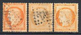 FRANCE - 1870 - Cérès - Siège De Paris - Lot De 3 Teintes Du N° 38 - 40 C. Orange - (Oblitérés) - 1870 Besetzung Von Paris