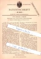 Original Patent - Otto Mendel In Berlin , 1881 , Füllfeder Mit Schreibzunge , Federhalter , Feder !!! - Federn