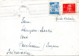 YOUGOSLAVIE. N°425 & 432 De 1945 Sur Enveloppe De 1947 à Destination De La Suisse. Tito/Partisans. - 1945-1992 República Federal Socialista De Yugoslavia