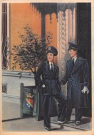 "01427 ""(TORINO) RIVOLI - COLLEGIO S. GIUSEPPE - GIUSEPPINI DEL MURIALDO "" STUDENTI IN DIVISA. CART.  POST.  SPEDITA 1950 - Rivoli"