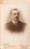 Foto Op Hard Karton Photo Portret Man H Pierre  Anvers Antwerpen ( 6,5 X 10,5 Cm) - Alte (vor 1900)