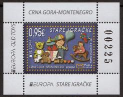 Montenegro 2015 Old Toys, Block, Souvenir Sheet MNH - Montenegro