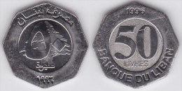 LIBANO  50  LIVRES  1.996  Acero/Steel  KM#37   SC/UNC   T-DL-10.171 - Libanon