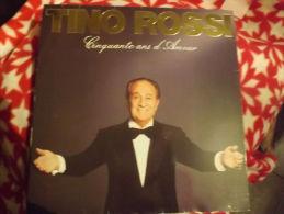 """Album 33t/12\"""".   TINO ROSSI.  Cinquante Ans D'Amour. - Vinyles"""