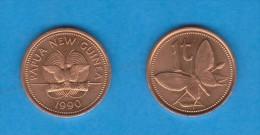 PAPAU NUEVA GUINEA / PAPAU NEW GUINEA  1 TOEA  1.990  BRONCE  KM#1   SC/UNC   T-DL-11.328 - Papua-Neuguinea