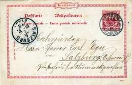 Deutschland Reichspost 1898 - 10 Pf Ganzsache Auf Pk Von Engen (Baden) Nach Salzburg - Deutschland