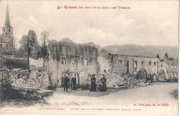 TAINTRUX 88 -le Centre Du Village Incendiée En Grande Partie .. Le Clergé - TTB écrite Par Militaire  1915 - Autres Communes