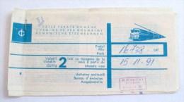 ROMANIA-CFR,CAILE FERATE ROMANE,1991 - Transportation Tickets