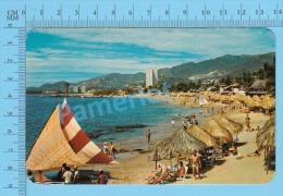 CPSM, México ( Adelante La Playa Condesa ) POSTCARD 2 SCANS - Mexique