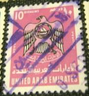 United Arab Emirates 1976 Coat Of Arms 10dh - Used - United Arab Emirates (General)
