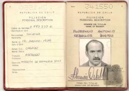 CHILE - Rare !! OFFICIAL 1985  PASSPORT - PASSEPORT - REISEPASS - PASAPORTE - PERU OFFICIAL VISA + PANAMA - Documentos Históricos