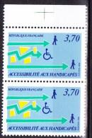 N° 2536  Accessibilité Aux Handicapés: Illustration Des Difficultés D´accès: Une Paire De 2 Timbres Neuf - Ungebraucht
