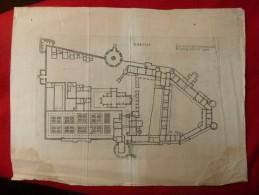 GRAVURE 16é SIECLE AMBOISE LE PLAN DU TOIT Jacques ANDROUET DU CERCEAU Architecture - Stiche & Gravuren