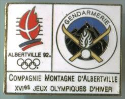 JO ALBERVILLE 92 GENDARMERIE - Juegos Olímpicos