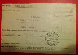 HUNGARY,USTI BAD ORLICI,1928,TELEGRAMME,SPECIAL,NAGYMEGYER - Cartas