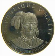 HAITI - REPUBLIQUE D' HAITI - 10 GOURDES (1971) OSCEOLA SEMINOLE - NATIVE AMERICAN INDIAN CHIEFS - SILVER COIN (999,9%) - Haiti