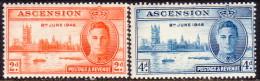 ASCENSION 1946 SG #48-49 Compl.set MNH OG Victory - Ascensión