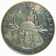 HAITI - REPUBLIQUE D' HAITI - 10 GOURDES (1971) WAR EAGLE YANKTON SIOUX - NATIVE AMERICAN INDIAN CHIEFS- SILVER COIN - Haiti
