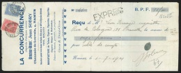 Re�u affr. N�58+60 C�d NAMUR(STATION)/1904 + griffe EXPRES. Les re�us en expr�s sont tr�s rares