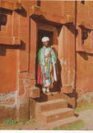 AFRICA,ETHIOPIA,   PRIEST At LALIBELA , Etiopia, Vintage Old Postcard - Ethiopie
