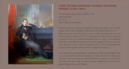 "Monsieur Aim� Henri Edmond Bassompierre Sewrin (1809-1896)  "" Artiste Peintre "", 2 Octobre 1896 ."