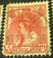 Netherlands 1899 Queen Wilhelmina 5c - Used - Usati