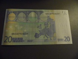 BILLET  FRANCE  20 EUROS L  087D 6 UNC    DRAGHY - EURO