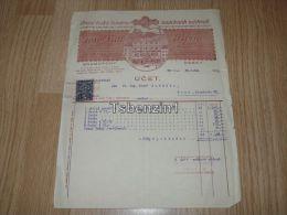 Josef Lidl Brno Brné Gramofony Sklad Pian Pianin Ceska Republika Musical Instrument Dealers 1934 - Fatture & Documenti Commerciali