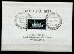 A3103) Danzig Gdansk Block 1a / 2a Sonderstempel - Danzig