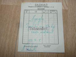 Zombor Sombor Számla Invoice Bilicki Viktor Magyarország Hungary Serbia Srbija 1947 - Fatture & Documenti Commerciali