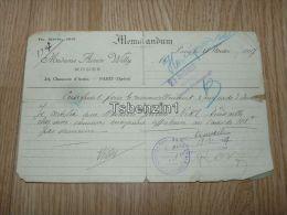 Madame Aimee Willy Modes Paris Opera Memorandum 1927 Travail France - Vecchi Documenti
