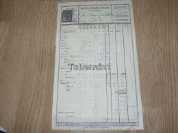 Wien Pension Atlanta Wochenhausweis Rechnung 1925 - Austria