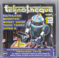 Disque CD TEKNOTHEQUE Vol2 FAITHLESS SCOOTER SWEET DROP TODD TERRY VIPER 2 VAN BELLEN TODD TERRY WHIRLPOOL PROD OLIVER F - Compilaties