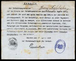 A3104) München 17.4.1919 Ausweis Von Räterepublik April / Mai 1919 Sehr Selten !!