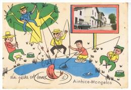 AINHICE-MONGELOS -  La Pêche Est Bonne à - édition FL - Circulée - Be - Rareté - Altri Comuni