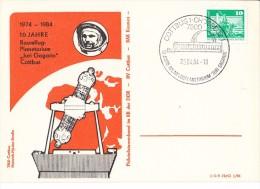 GAGARIN First SPACE Cosmonaut  Planetarium - 1984  DDR /  Germany Post Card - RARE !!! - Europa