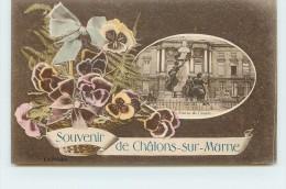 CHALONS SUR MARNE -   Souvenir De Châlons Sur Marne. (statue De Carnot). - Châlons-sur-Marne