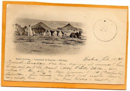 Sahara Algeria Campement Nomades 1898 Postcard Mailed - Algerije